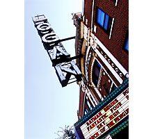 logan square movie theater, chicago Photographic Print