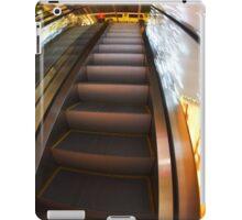 Escalator in the big shopping center in the movement iPad Case/Skin