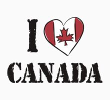 I Love Canada by HolidayT-Shirts