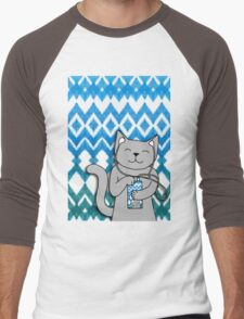 iKat iCat Men's Baseball ¾ T-Shirt