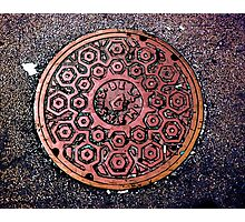 manhole cover Photographic Print