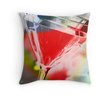 martini red Throw Pillow