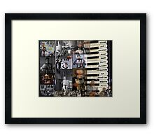 Makin' music. (More than just black and white.)  Framed Print