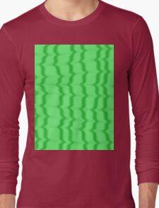 Green Ripples Long Sleeve T-Shirt