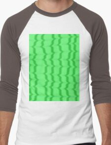 Green Ripples Men's Baseball ¾ T-Shirt