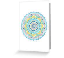 Pastel Mandala Greeting Card