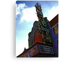 music box movie theater, chicago Canvas Print