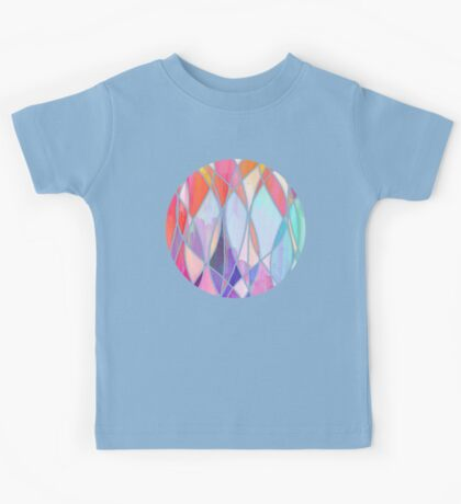 Purple & Peach Love - abstract painting in rainbow pastels Kids Tee