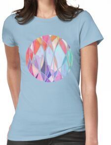 Purple & Peach Love - abstract painting in rainbow pastels Womens Fitted T-Shirt