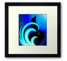 The beauty of shark in blue waves	 Framed Print