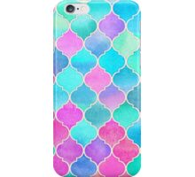 Bright Moroccan Morning - pretty pastel color pattern iPhone Case/Skin
