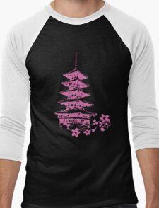 Pink Pagoda Men's Baseball ¾ T-Shirt