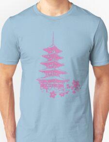 Pink Pagoda Unisex T-Shirt