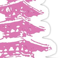 Pink Pagoda Sticker
