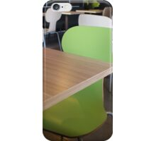 The interior of the restaurant fastfood iPhone Case/Skin