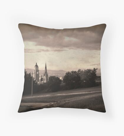Vintage Quebec City Throw Pillow