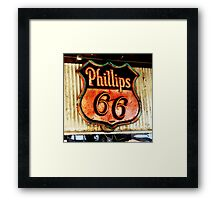 phillips 66 sign, route 66 Framed Print
