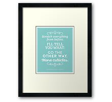 The Office Dunder Mifflin - More Cubicles Framed Print