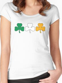 Ireland Shamrock Flag Women's Fitted Scoop T-Shirt