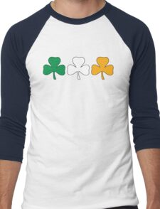 Ireland Shamrock Flag Men's Baseball ¾ T-Shirt