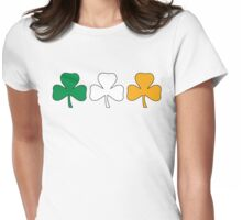 Ireland Shamrock Flag Womens Fitted T-Shirt