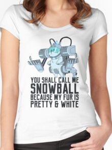 Snowball - Rick and Morty Women's Fitted Scoop T-Shirt