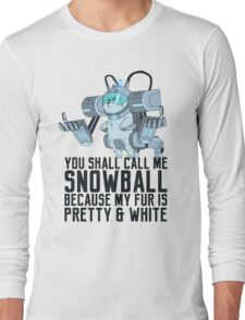 Snowball - Rick and Morty Long Sleeve T-Shirt