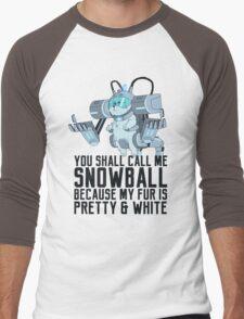 Snowball - Rick and Morty Men's Baseball ¾ T-Shirt