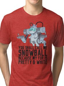Snowball - Rick and Morty Tri-blend T-Shirt