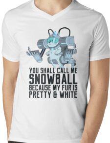 Snowball - Rick and Morty Mens V-Neck T-Shirt