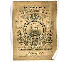 President J.A. Garfield Poster
