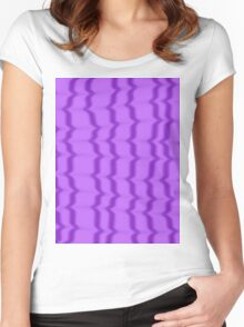 Purple Ripples Women's Fitted Scoop T-Shirt