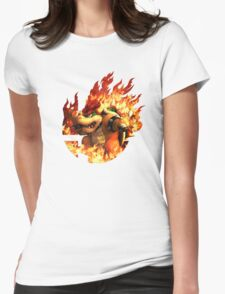 Smash Hype - Bowser Womens Fitted T-Shirt