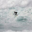 Frothing Machine - Surfing Bronte Beach by Mick Duck
