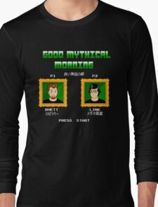 Good Mythical Morning (Famicom-Style) Long Sleeve T-Shirt