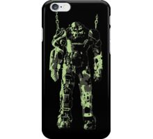 Fallout 4 Power Armor Chained- Black iPhone Case/Skin