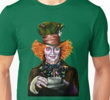 Mad Hatter Teacup Painting Unisex T-Shirt