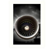 GE90 Engine with a little HDR Art Print