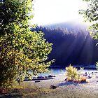 Creek Beach Sunset by James Zickmantel