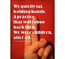 Holding Hands Photographic Print