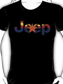 Jeep outline Arizona flag T-Shirt