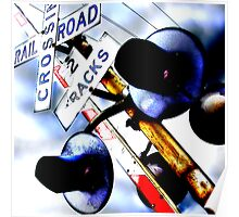 railroad crossing gates Poster