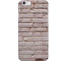 Detail of a wall of the old beige clay bricks iPhone Case/Skin