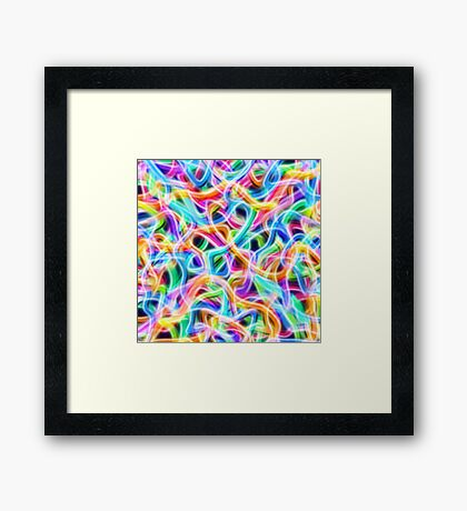 kinetic energy Framed Print