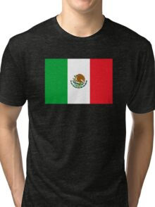 Mexico Flag Mexican Flag Tri-blend T-Shirt