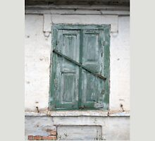 Detail of a wall of an old house with a window Unisex T-Shirt
