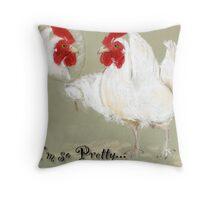 ©pretty chicken Throw Pillow