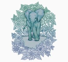 Emerald Elephant in the Lilac Evening Baby Tee