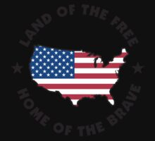 Land of The Free Home of The Brave Kids Clothes