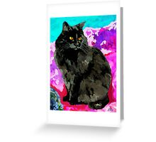 My Black Cat Greeting Card